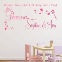 Buy cheap Because I have a Sister I will Always have a Friend Personalised Wall sticker / decal from wholesalers