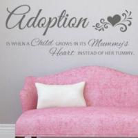 Buy cheap Adoption Is When a Child Grows in its Mummys Heart ~ Wall sticker / decals from wholesalers