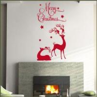 China Merry Christmas Reindeer ~ Wall sticker / decals wholesale