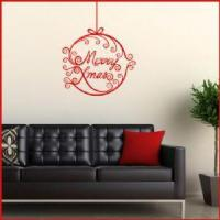 China Merry Christmas & Bauble ~ Wall sticker / decals wholesale