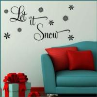 China Let it Snow Christmas ~ Wall sticker / decals wholesale