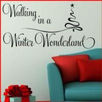 China Walking in a Winter Wonderland Christmas ~ Wall sticker / decals wholesale