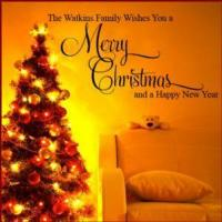 China Personalised Merry Christmas Family ~ Wall sticker / decals wholesale