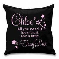 China All You Need Is Love, Trust & Fairy Dust Personalised Cushion Cover wholesale