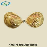 China Sequin Cover Plus Size Women Tops Hot Nude Sexy Invisible Self-adhesive Bra on sale