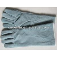 China working shoes Blue Cow Split Leather Welding Glove wholesale