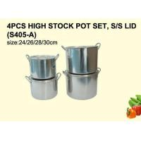 China Stainless Steel Wares 4PCS HIGH STOCK POT SET, S/S LID (S405-A) on sale