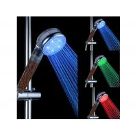 China ABS Chrome Finish LED Shower Head with Water Filtering Function on sale
