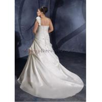 China Satin One Shoulder Ruching A-line Plus Size Wedding Dress on sale