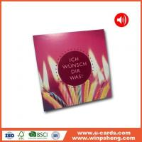 China Handmade Card Personalised Message Voice Reccording Greeting Cards wholesale