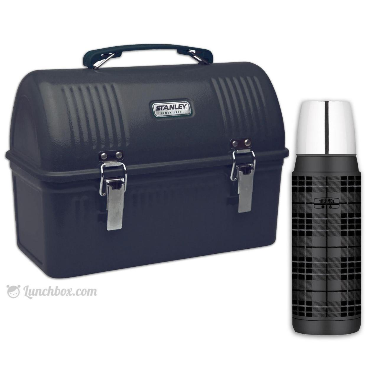 China Black Dome Lunch Box with Thermos Bottle wholesale