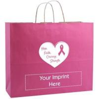 Buy cheap Custom Shopping Bag - Breast Cancer Awareness Kraft Finish from wholesalers