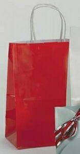 """Quality Crystal Cote Shopping Bag - 8""""X4.75""""X10.5"""" (Fire Engine Red) for sale"""