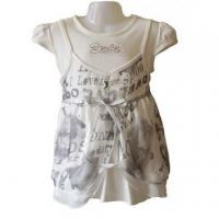 China Kids Short Sleeve Blouse with Pattern wholesale
