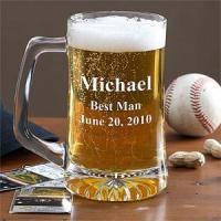 China For Him Personalized Glass Beer Mug In Wedding Party Designs wholesale