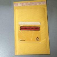 China Golden / Yellow Padded Envelopes With Documents Enclosed / Attached Pouch on sale
