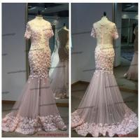 China Surmount Real Sample Pink Flowers With Crytals Online Shopping Long Dresses For Women wholesale