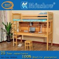 China Single Wood Bed With Desk wholesale