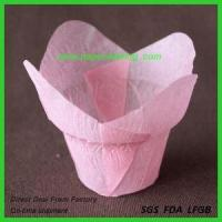 China Large Printed Paper Tulip Cupcake Liners wholesale