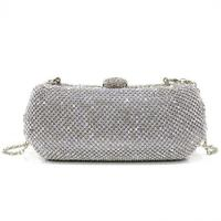 China Silver Crystal box Evening Purse Bags for women Handcee-KB-11 on sale