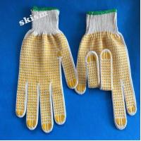 China cloth dotted garden glove wholesale