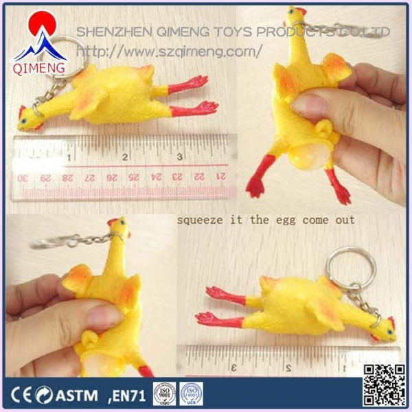 Quality Foam Clay-putty-slime  squeeze Chicken with keychain for sale