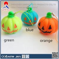 China Foam Clay-putty-slime  Stress Pumpkin with Strap , with or without LED light wholesale