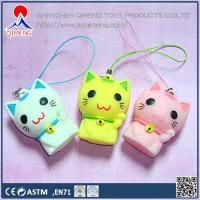 China Foam Clay-putty-slime  Stress Lucky Cat with strap wholesale
