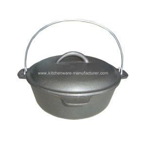 Quality Outdoor Cast Iron Round Dutch Oven for sale