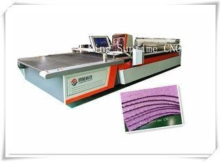 China Intelligent Cutting Blade Automatic Cloth Cutting Machine For Suitcase / House Hooding