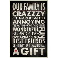 China Motivational Our Family is Crazzzy Inspirational Typography Wall Plaque wholesale