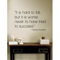 Buy cheap Motivational Hard to Fail - Theodore Roosevelt from wholesalers