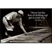 Buy cheap Motivational Babe Ruth - Striking Out Quote from wholesalers