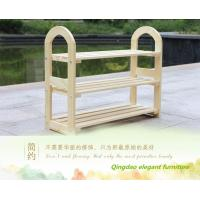 China Fashion Design White Wooden Shoe Rack on sale