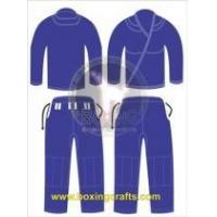 China BJJ GI BLUE BJJ GOLD WEAVE UNIFORM on sale