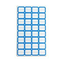 "China Blue Removable self-adhesive labels Stickers 1""X1"" wholesale"