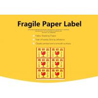 Buy cheap Fragile Warning Self Adhesive Packaging Label Sticker For Shipping from wholesalers