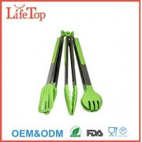 China Silicone and Stainless Steel Flipper Tongs Salad Tong Food Tong wholesale