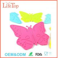 China Non-Slip Butterfly Silicone Mats Tableware Coasters Pad wholesale