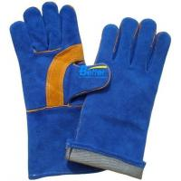 China High Quality Blue Cow Split Leather Safety Gloves(BGCW208) on sale