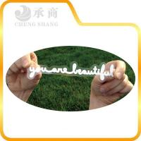 China printed white letter pvc label sticker at manufacturer price wholesale