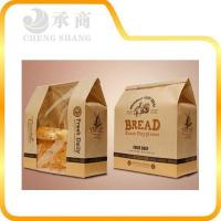 China customized window design bread paper package bags wholesale