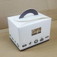 China Birthday Cake Boxe/ Bakery Boxes Packaging, Custom Cardboard Small Cake Boxes UK With Handle wholesale