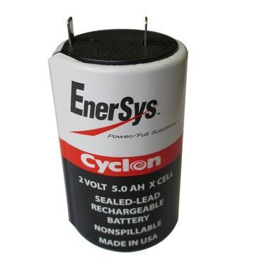 China 0800-0004 Battery by Enersys Cyclon 2 Volt 5.0 AH Sealed Rechargeable X Cell