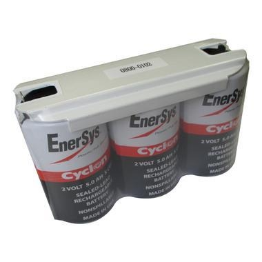 China 0800-0102 6 Volt 5.0 AH 1x3 X Cell Battery - Enersys Cyclon Hawker