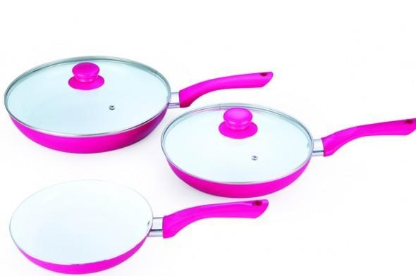 Quality 5Pcs Aluminum Ceramic Frypan set BPS005 for sale