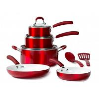 China 10Pcs Aluminum Metallic Cookware Set BPS010 wholesale