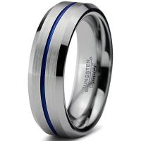 China 6mm Womens Tungsten Rings for Men Wedding Band Engagement Promise Brushed Beveled on sale