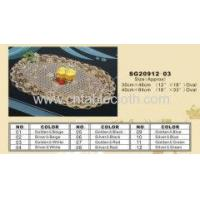 China PVC Lace Placemat SG20912-03(Oval) wholesale