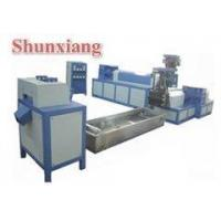 China Double screw waste plastic recycling machine on sale